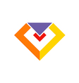 gem diamond sign jewelry logo vector image