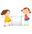 Kids holding a sign vector image