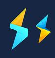 Lightning and S letter logo vector image