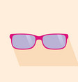 pink glassess long shadow flat design yellow vector image