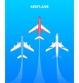 Set of Airplanes Flying in Blue Sky Avia Poster vector image