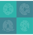 Set of icons fingerprint vector image