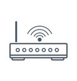 wifi router antenna vector image
