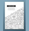 dental care - line design brochure poster template vector image vector image