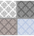 Seamless abstract damask pattern vector image vector image