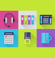 modern icons set for office vector image