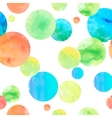 Watercolor Circle Seamless Background vector image