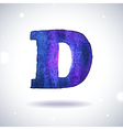 Watercolor letter D vector image
