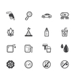 gas station element black icon set on white bg vector image vector image