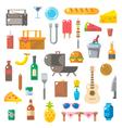 Flat design of picnic items set vector image
