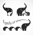 image of family elephants vector image vector image