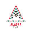alaska state ethnic logo vector image