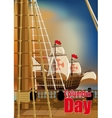 Columbus Day Card vector image