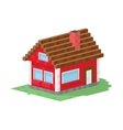 Family house building vector image