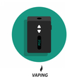 Flat vaping icon circle vector image
