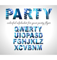 Funny Colorful Alphabet for party flyers or vector image