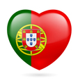 Heart icon of Portugal vector image