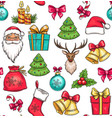merry christmas holidays seamless pattern vector image