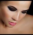 realistic attractive woman portrait 3d vector image