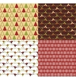 set of seamless patterns for Christmas vector image