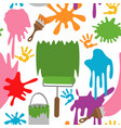 seamless pattern with paints vector image