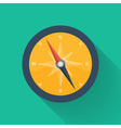Orange compass circle icon vector image