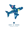 colorful doodle bunting flags airplane silhouette vector image