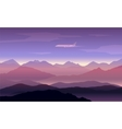 mountains peaks background with plane vector image