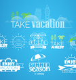Different vacation and trip labels collection vector image