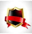 abstract shield with tape vector image