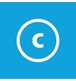 Basic font for letter C vector image