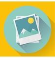 Flat Landscape photo icon vector image
