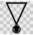 Medal Icon on transparent background vector image
