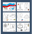 Russian coloring book Patriotic book for coloring vector image