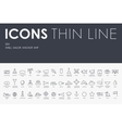 sea Thin Line Icons vector image