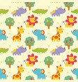 seamless pattern wild animal vector image