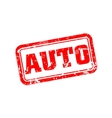 Auto rubber stamp vector image vector image