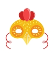 Chicken Animal Head Mask Kids Carnival Disguise vector image