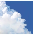 Cloud in blue sky vector image vector image