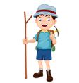 Boy Hiking vector image vector image