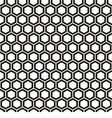 Pattern with honeycombs vector image vector image