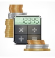 Calculator  coins vector image vector image