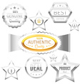 Best choice sign tags badges collection vector image