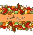 assorted fruits vector image