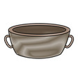 bowl spa for water treatment empty vector image