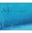 Broken glass blue background vector image