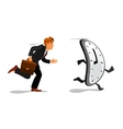 Businessman running late for work vector image