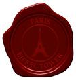 Eiffel tower wax seal vector image