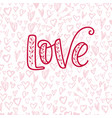 happy valentine s day hand drawn calligraphy vector image