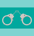 modern metal handcuffs vector image